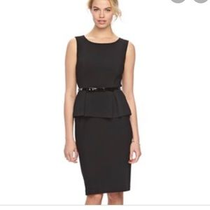 Elle Black Peplum Dress Size 16
